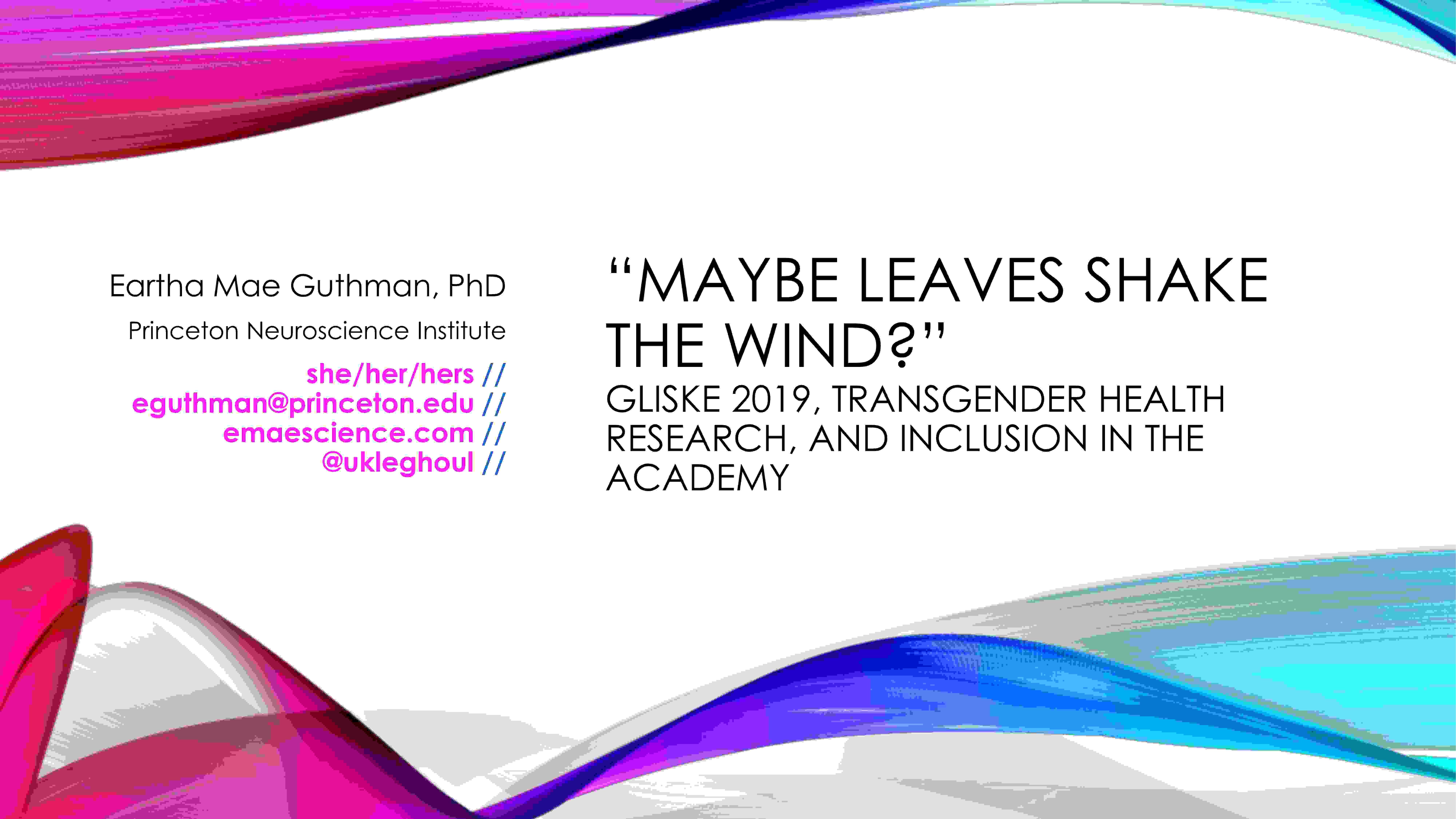 Slides Talk Mae Guthman